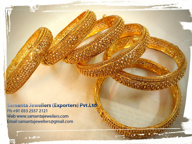 Latest Gold Antique Bangle Churi Designs