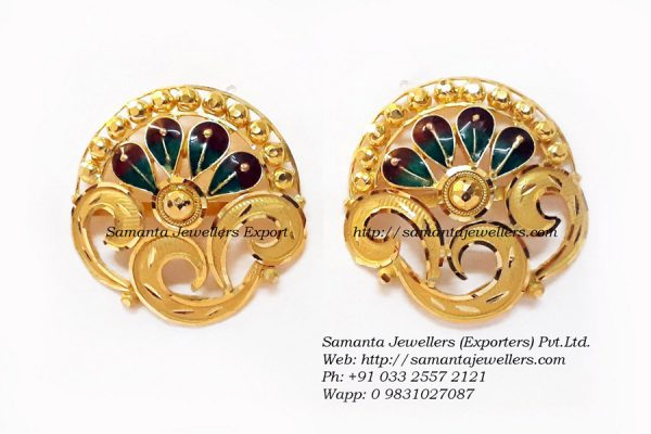 Latest light weight gold Earrings Tups designs with WEIGHT | Latest Jhumka Earrings Tups for Women