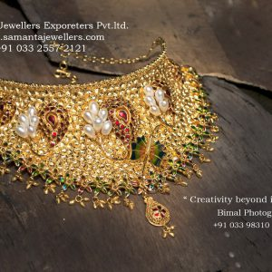 LATEST GOLD NECKLACE EARRINGS CHICK DESIGNS
