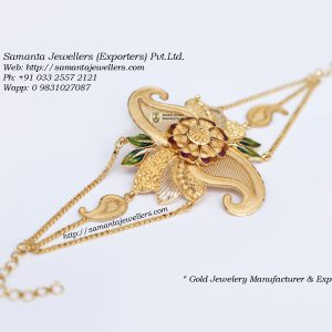 gold mantasha designs with weight, glass mantasa designs, broad bengali wedding mantasha designs,fancy light weight mantasha designs, armlet design