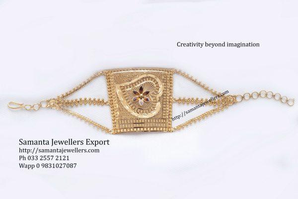 Light weight gold mantasha armlet kharu bangle designs with weight