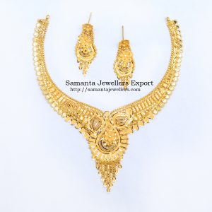 Latest Light Weight Gold Necklace Designs 2021 With Weight And Price   22kt Wedding Necklace designs 22k Light Gold Trendy Wedding Necklace