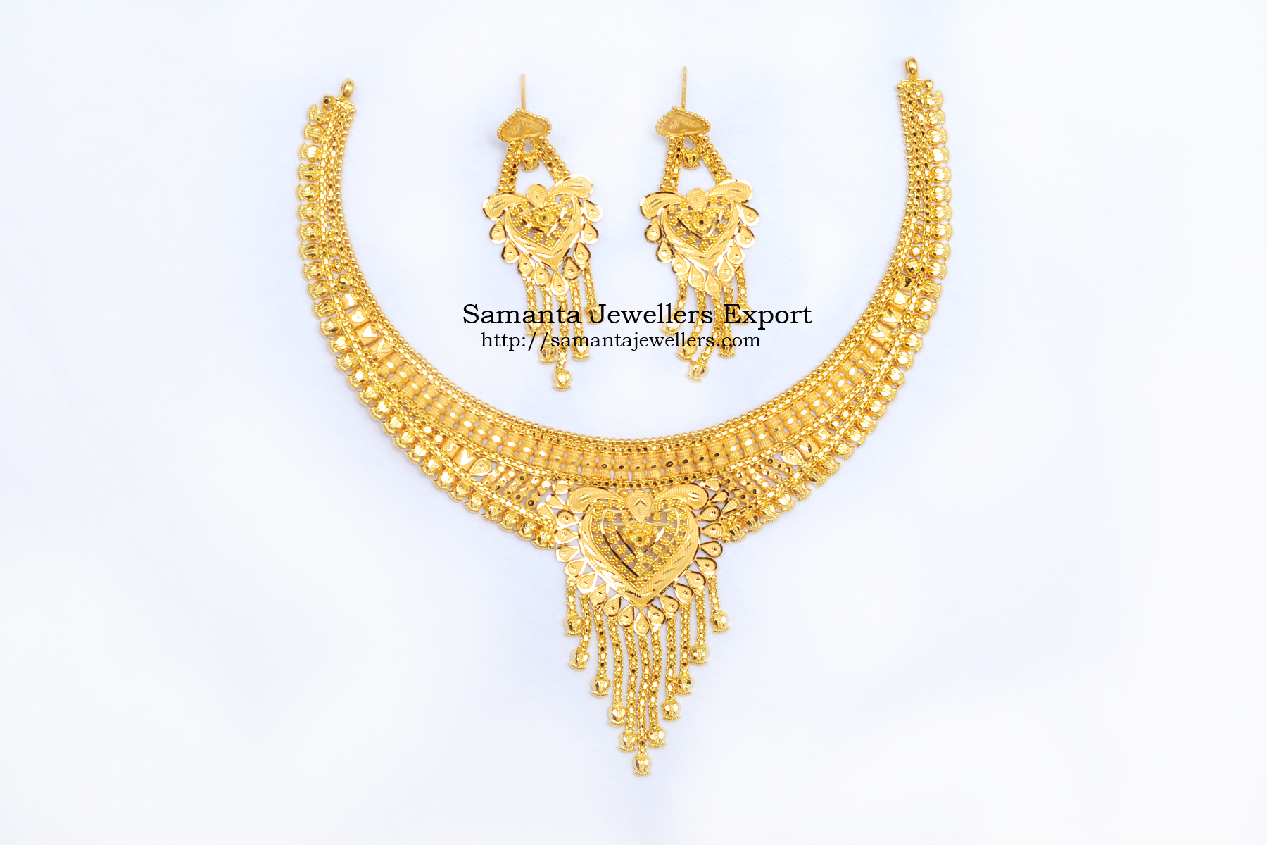 Latest Light Weight Gold Necklace Designs 2021 With Weight And Price | 22kt Wedding Necklace designs 22k Light Gold Trendy Wedding Necklace