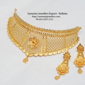 light weight fancy wedding gold choker necklace designs