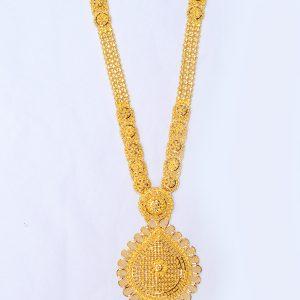 Latest Gold Long Necklace Designs   Gold Haram designs Uset Ranihaar mala set  wedding Necklace